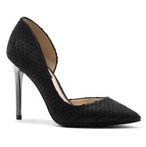 Jessica Simpson LUCINA Black Snake Emboss Heels